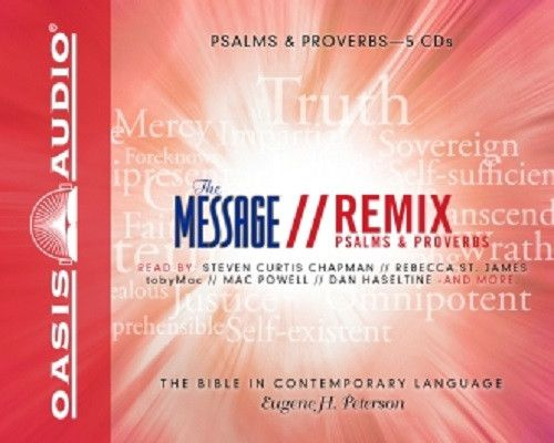The Message Bible Remix Psalms & Proverbs By Eugene H. Peterson CD