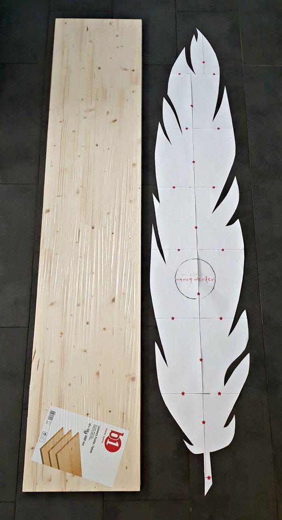 Feder Messlatte aus Holz selbermachen / Schnittmuster & Anleitung Freebie – Metterschling und Maulwurfn