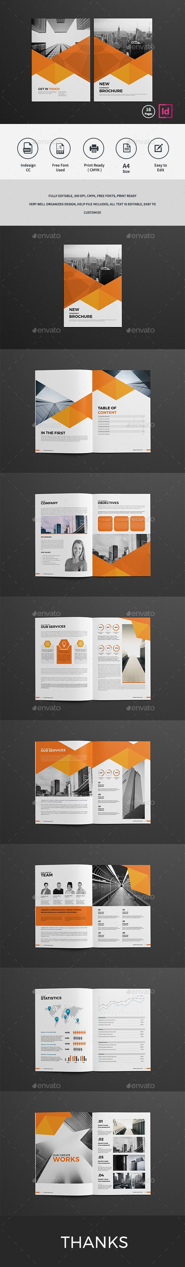 Company Profile Brochure Design Template 2017 - Corporate Brochures Design Template InDesign INDD. Download here: https://graphicriver.net/item/company-profile-brochure-2017/19359786?ref=yinkira