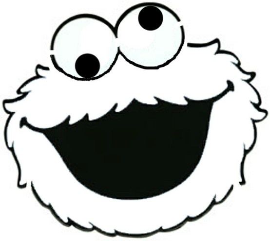 103 Best Images About The Muppets On Pinterest: Cookie Monster Black/white Face