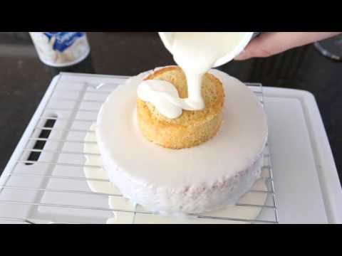 How to frost a professional looking cake with pourable faux fondant in minutes! – Sweet C's Designs