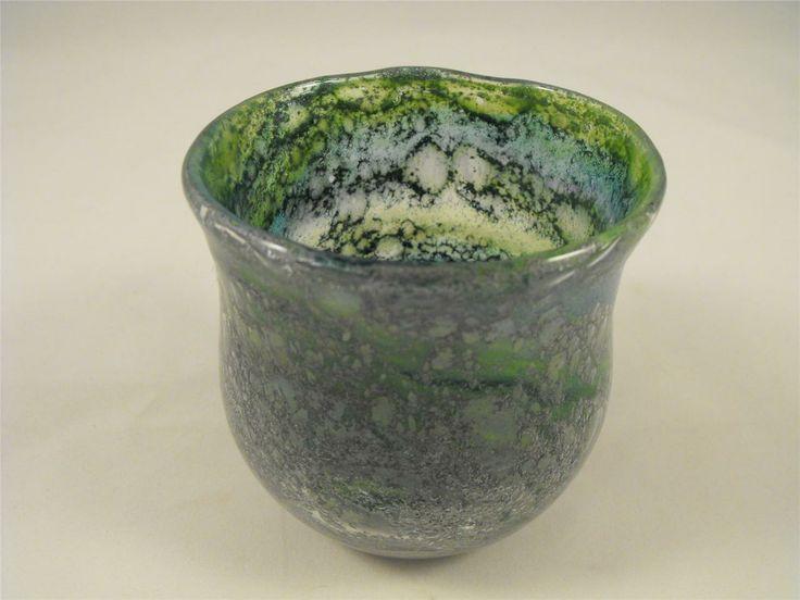 Randsfjord Hadeland Benny Motzfeldt Norway Art Glass Vase