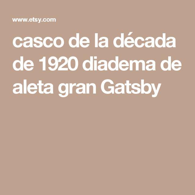 casco de la década de 1920 diadema de aleta gran Gatsby