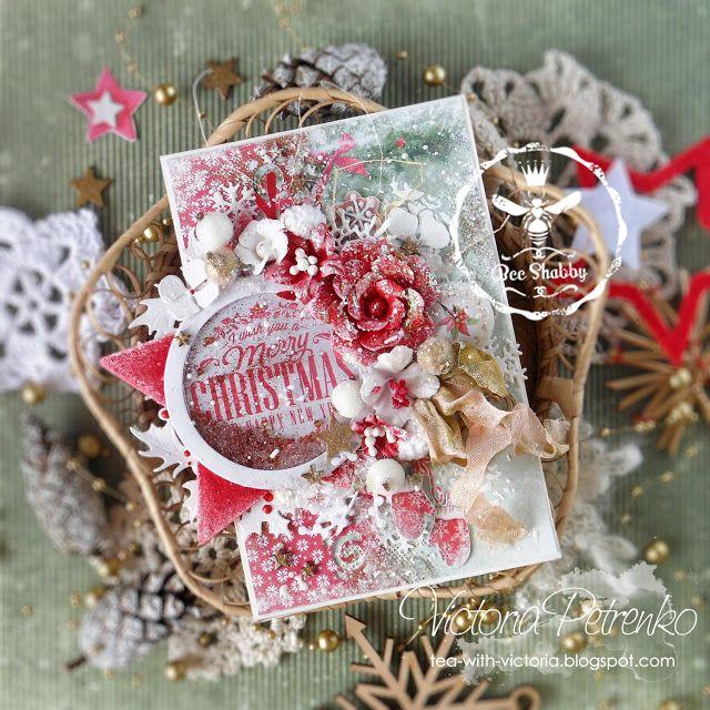 "Bee Shabby: Новогодняя открытка-шейкер из коллекции ""CHRISTMAS STORY"""