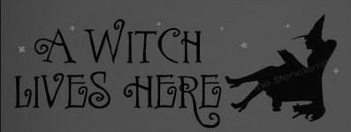 Primitive Witch halloween folk art signs A Witch Lives Here witchcraft cats samhain sign plaques decorations wicca wiccan decor pagan Witches Cottage house by SleepyHollowPrims, $27.00 USD