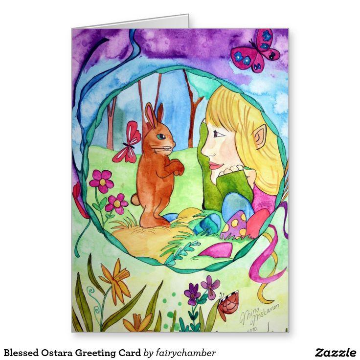 Blessed Ostara Greeting Card