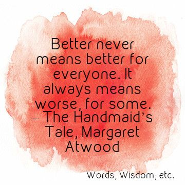 an analysis of dystopia in orwells 1984 and atwoods the handmaids tale Orwell and atwood have utilized language as a essay about handmaids tale and 1984 the handmaid's tale, constructs a near-future dystopia where human.