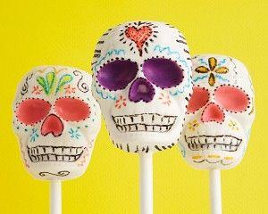 Skull Cake Pops - Day of the Dead - Halloween - Holidays Cakegirls