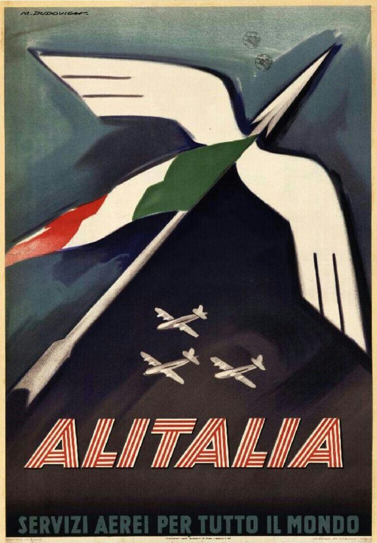Marcello Dudovich - Alitalia, 1948