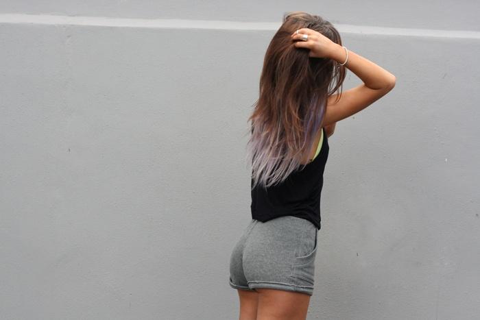 dip dye brown hair