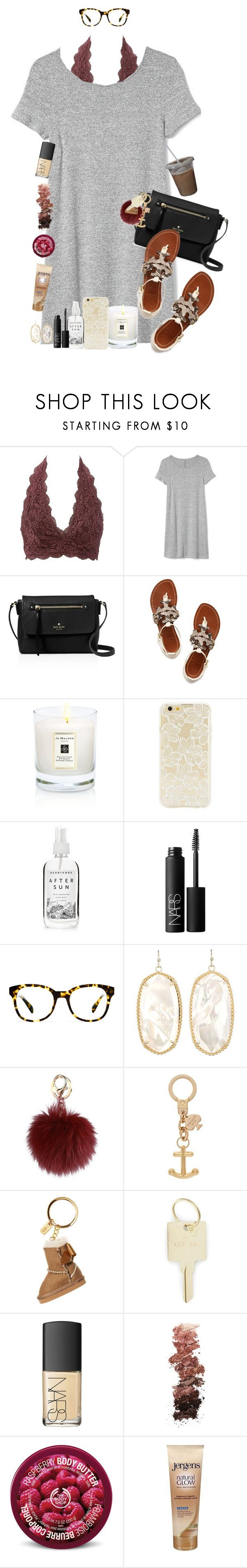 """missing fall sets"" by sophie-dye ❤ liked on Polyvore featuring Charlotte Russe, Gap, Kate Spade, Tory Burch, Jo Malone, Forever 21, Herbivore, NARS Cosmetics, Warby Parker and Kendra Scott"