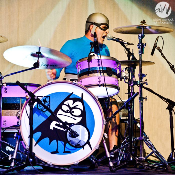 Ricky Fitness (Falomir) of The Aquabats performing live at The Depot in Salt Lake City, Utah.  Photography by Abbie Warnock.