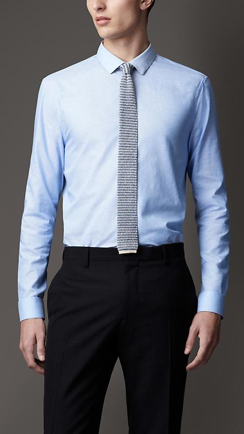 Slim Fit Cotton Linen Shirt | Burberry