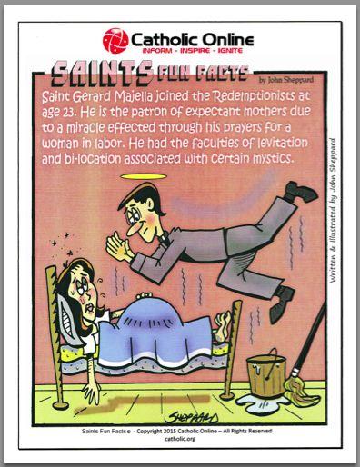 Saints Fun Facts - St. Gerard Majella by Catholic Shopping .com | Catholic Shopping .com