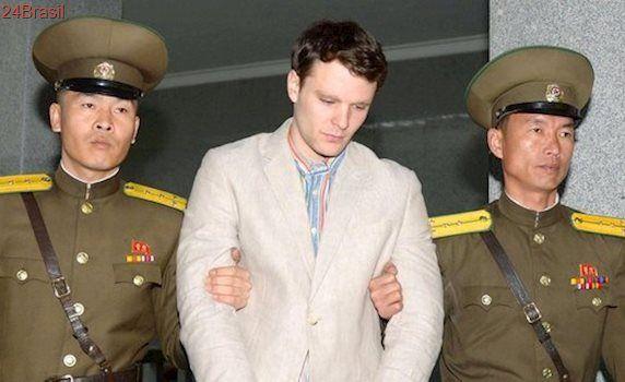 Estudante norte-americano libertado da Coreia do Norte possui severa lesão cerebral