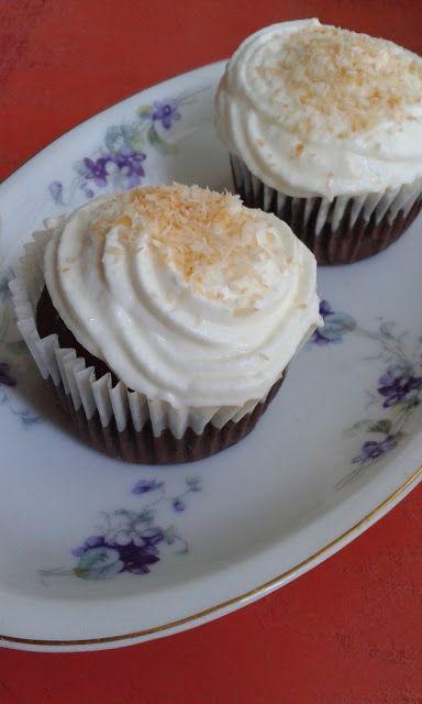 Kókuszos-habos, kakaós muffin