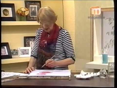 Pintura sobre Seda, técnica con parafina - Taller Elke - YouTube