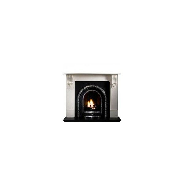 Gallery Fireplaces, Kingston Agean Limestone Fireplace - Direct... ❤ liked on Polyvore featuring home, home decor, fireplace accessories, furniture, fireplace, decor, backgrounds, interior wall decor, electric fireplace accessories and gas jeans