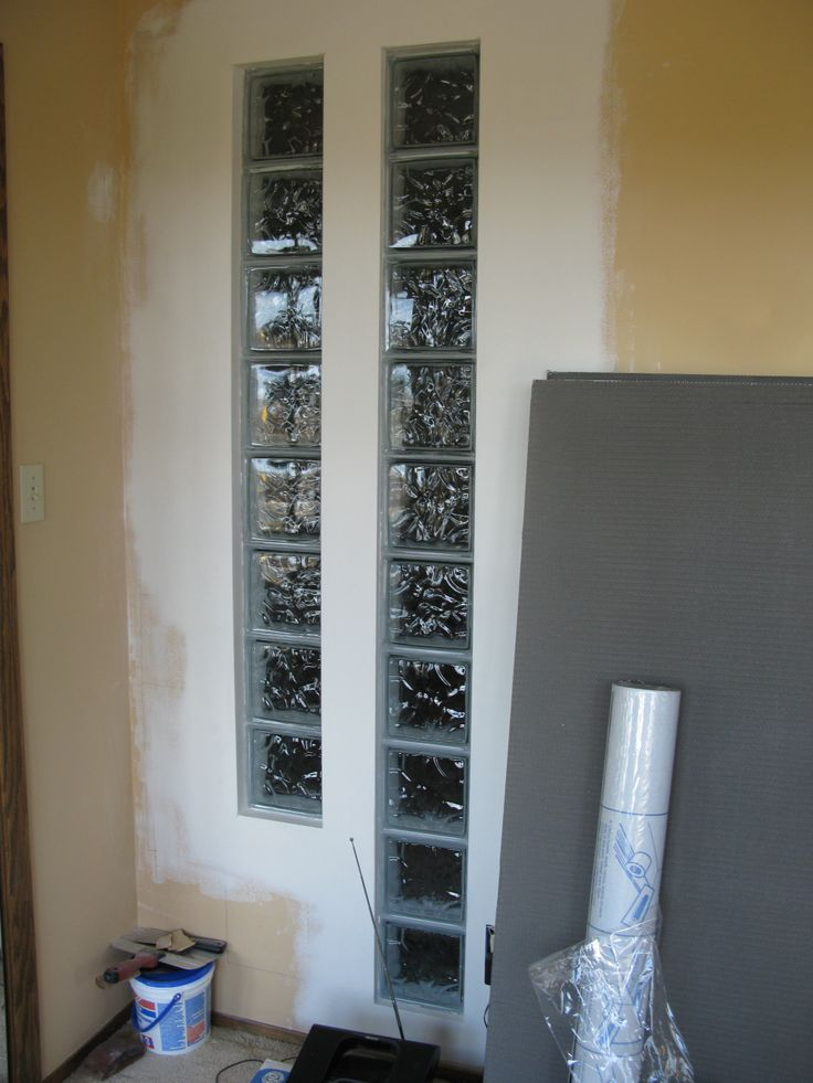 Window glass block ideas