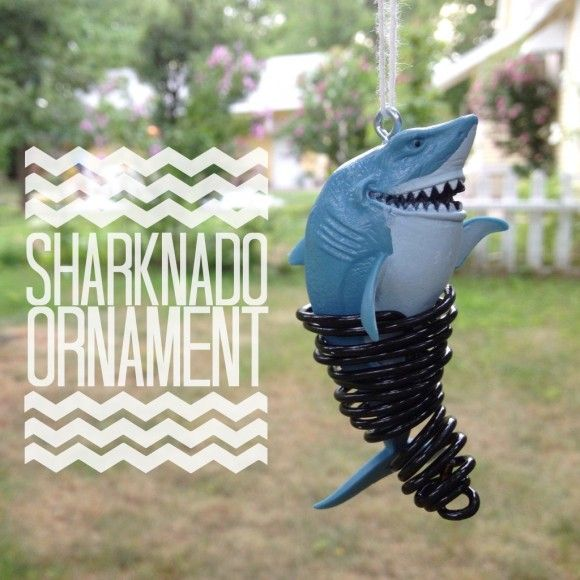 Christmas Lights Shark Tank: Tutorial: Sharknado Ornament