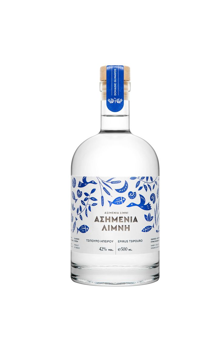 The tsipouro Asimenia Limni undergoes a double distillation, and is produced entirely from the grape marc of the white local variety Debina from the area of  Zitsa, at the distillery of our winery, operating since 2004.