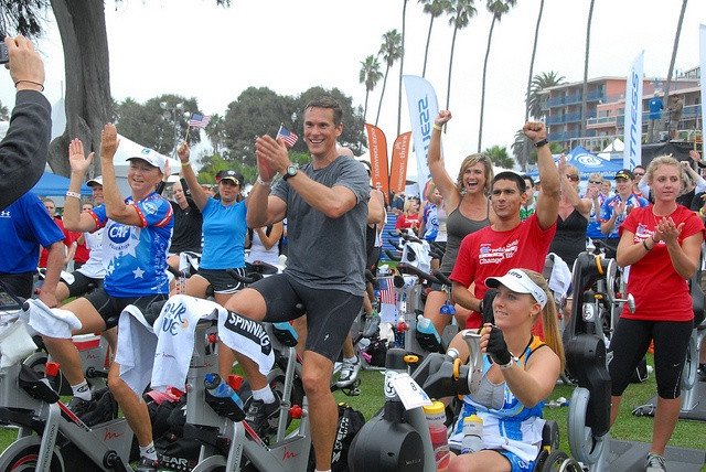 "The 24 Hour Fitness Tour de Cove spin-a-thon event takes place during SDTC.  Overlooking the Pacific Ocean at La Jolla cove, participants get a front-row seat to the ""Best Day In Triathlon."" Both able bodied and challenged athletes go the the distance as they pedal and Krank® for four-and-a-half hours."