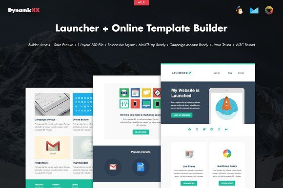 Launcher + Online Template Builder by DynamicXX on @creativemarket