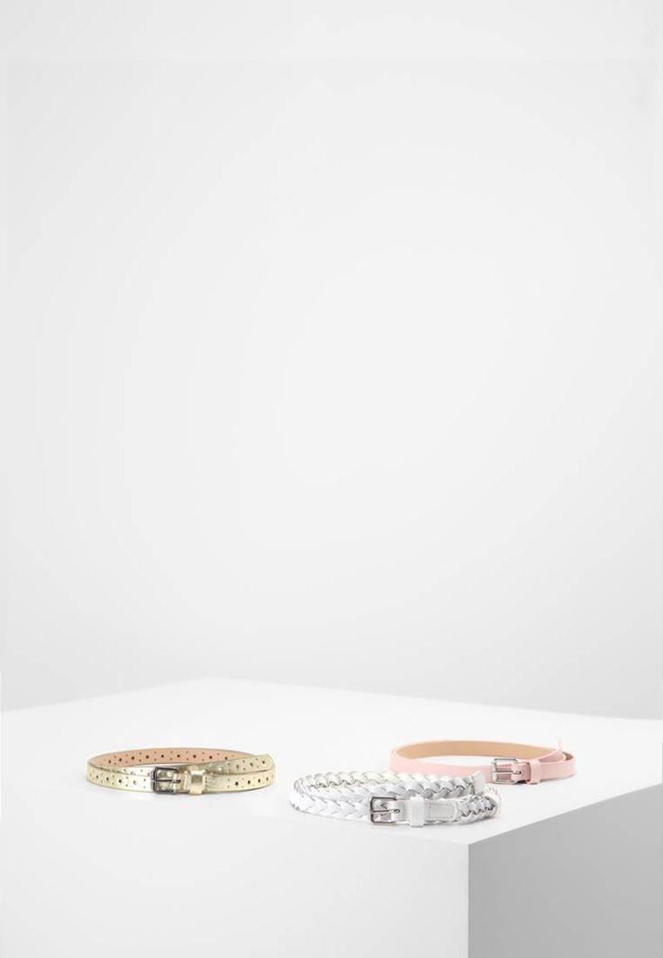 Even&Odd. 3 PACK - Cintura - white/rose/gold. Composizione:100% Poliuretano. Materiale:fintapelle. Chiusura:Fibbia. Larghezza:1.5 cm nella taglia 95. Fantasia:monocromo