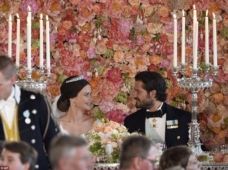 A wall of flowers! Beautiful! | We're swooning over the pics from the royal Swedish wedding