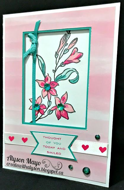 Thought of You and Smiled window card