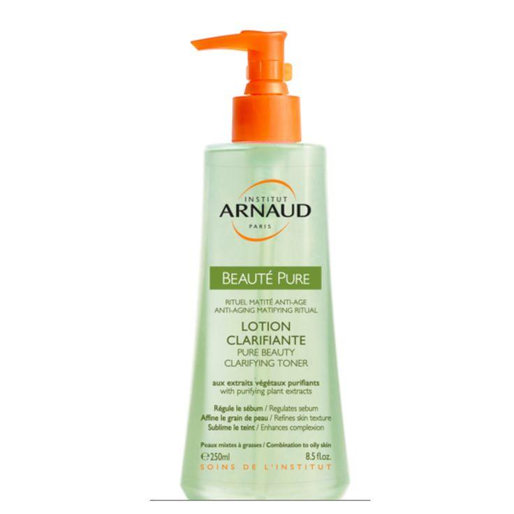 La Lotion Clarifiante Beauté Pure par Institut Arnaud, idéal pour les peaux mixtes à grasses. Purifie la peau et lui redonne de l'éclat