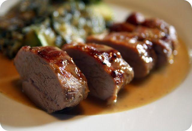 Receitas práticas de culinária: Lombinhos de porco com molho de mel e mostarda