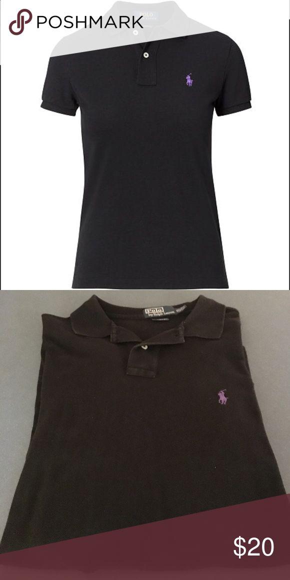 Ralph Lauren Black Polo Shirt Ralph Lauren Black Polo Shirt - Purple Horseman - Size XL Polo by Ralph Lauren Shirts Polos