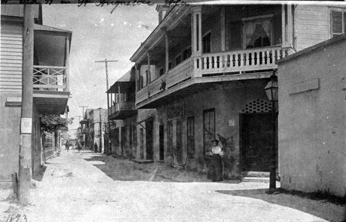 Local call number: N039739  Title: St. Augustine street scene  Date: 1893  Physical descrip: 1 photonegative - b&w - 4 x 5 in.  Series Title: General Collection  Repository:  State  Library and Archives of Florida, 500 S. Bronough St., Tallahassee, FL  32399-0250 USA. Contact: 850.245.6700. Archives@dos.myflorida.com  Persistent URL: www.floridamemory.com/items/show/147986