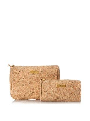 50% OFF Julie Brown Women's Cosmetic Bag Set, Natural Cork