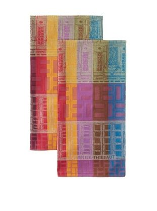 50% OFF Garnier-Thiebaut Set of 2 La Ville Kitchen Towels, Neon