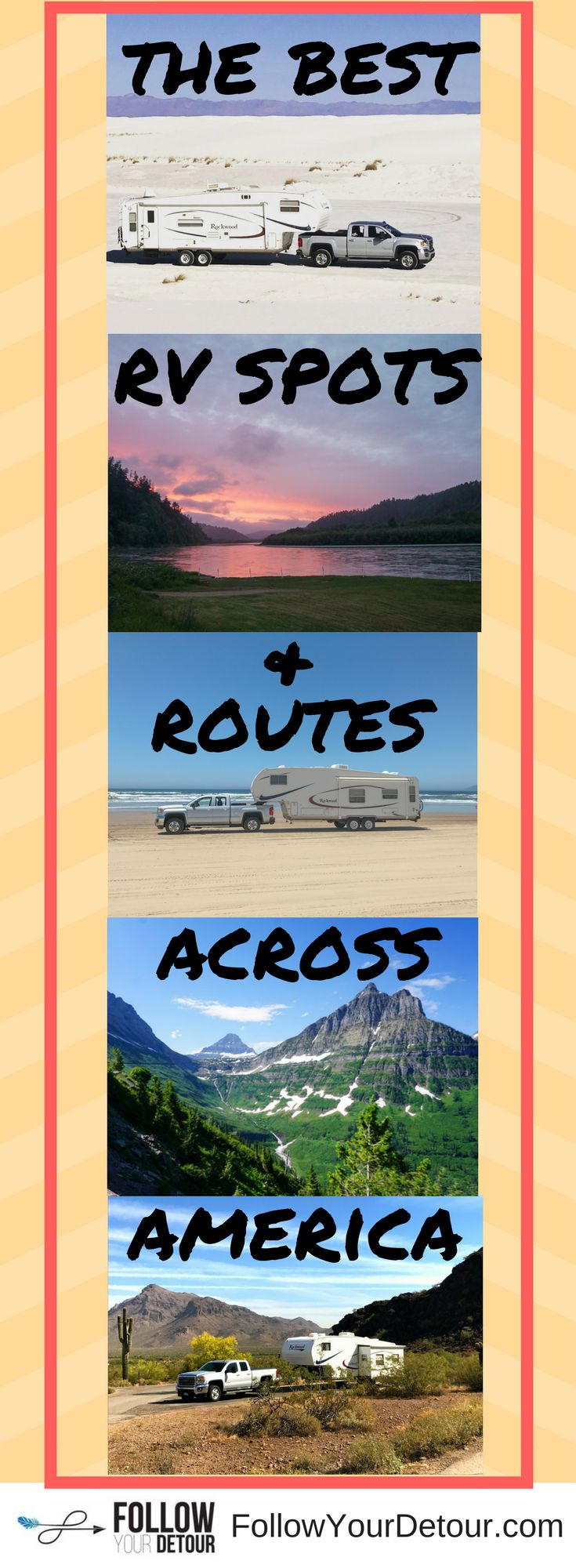 Love the RV ideas, spots, and routes that this site, run by full time-RVers publishes! If you are RV living and traveling, you'll love these ideas by a couple who lives full-time in a fifth wheel. #RVliving #fifthwheelliving #fifthwheel #homeiswhereyoupar