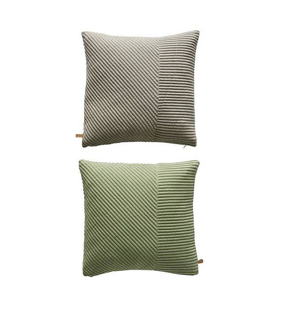 OYOY Sierkussen Ada tweezijdig grijs groen katoen 50x50cm - lefliving.be leefruimte