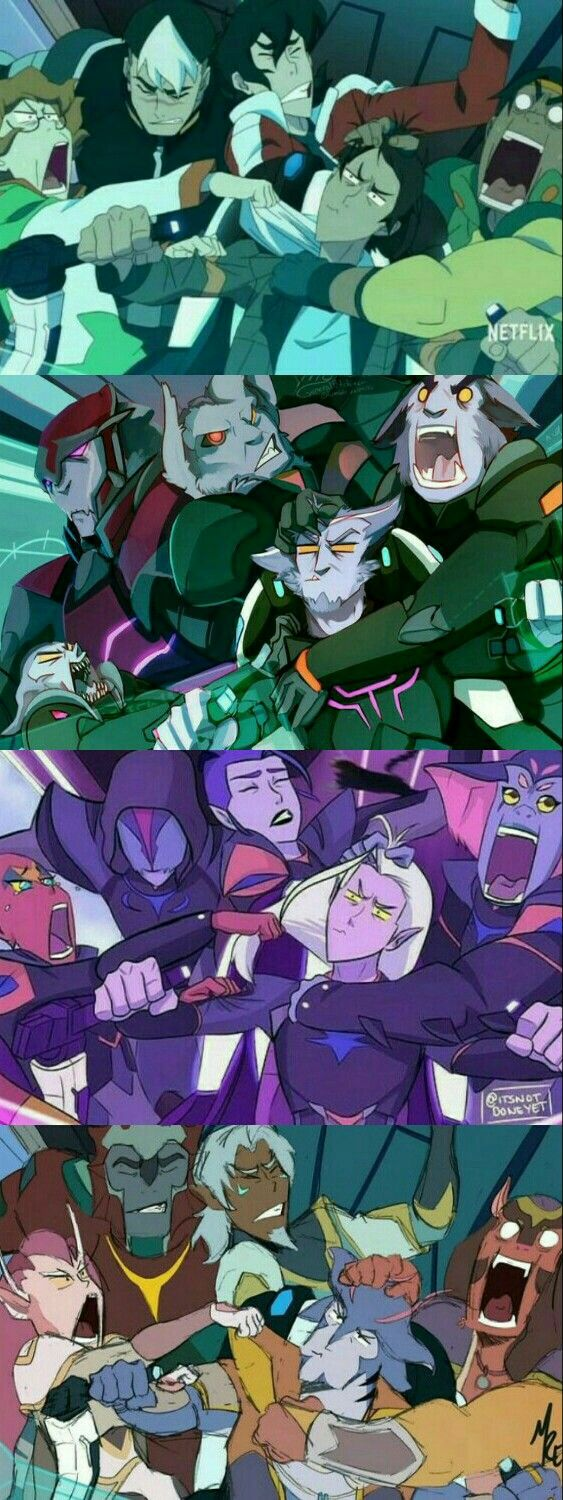 Voltron crack - First Flight in 4 Versions (Team Voltron, Galra, Lotor, Old Paladins)