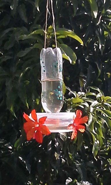 Bebedero de colibri reciclable