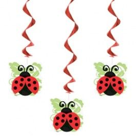 Ladybug Party Supplies, Ladybugs Danglers, Ladybugs Decorations