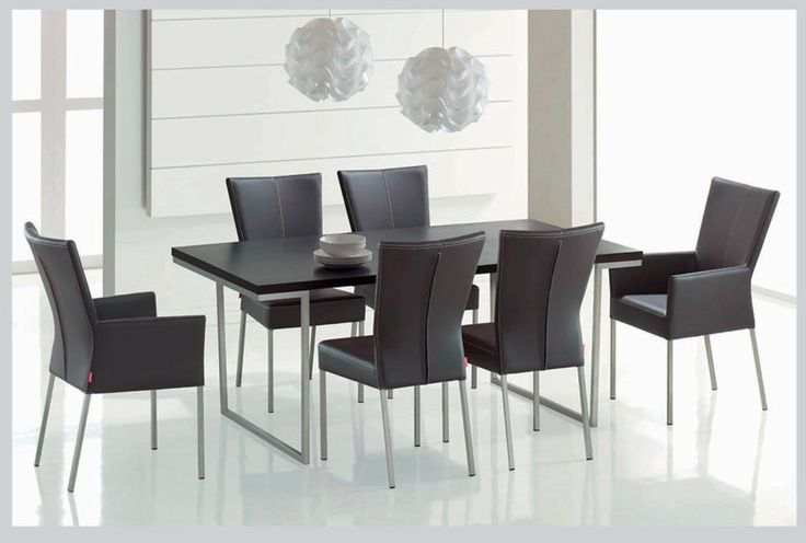 Outstanding Modern Dining Room Furniture Design With Black Wood Rectangle Dining Table minimalist dining room table sets Glass Dining Room Table Set