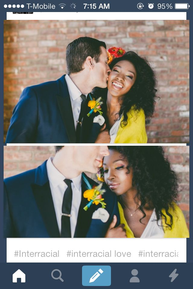 Beautiful interracial couple #wmbw #bwwm