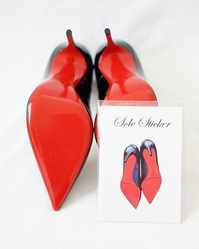 Details zu Crystal Clear 3M Sohlenschutz für Christian Louboutin rote Absätze