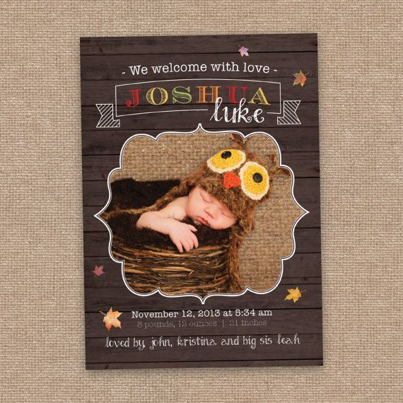 thanksgiving birth announcement