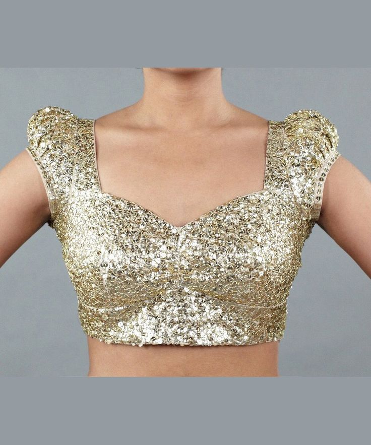 OMG I want this sari blouse so bad! Gold Sequin Blouse by Wild Orchid - Apparel