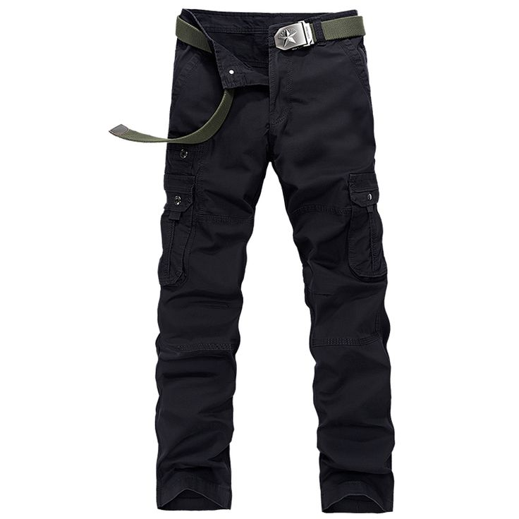 2017 Spring New Cotton Mens Leger Broek Good Quality Multi Pockets Cargo Pantalon Militaires