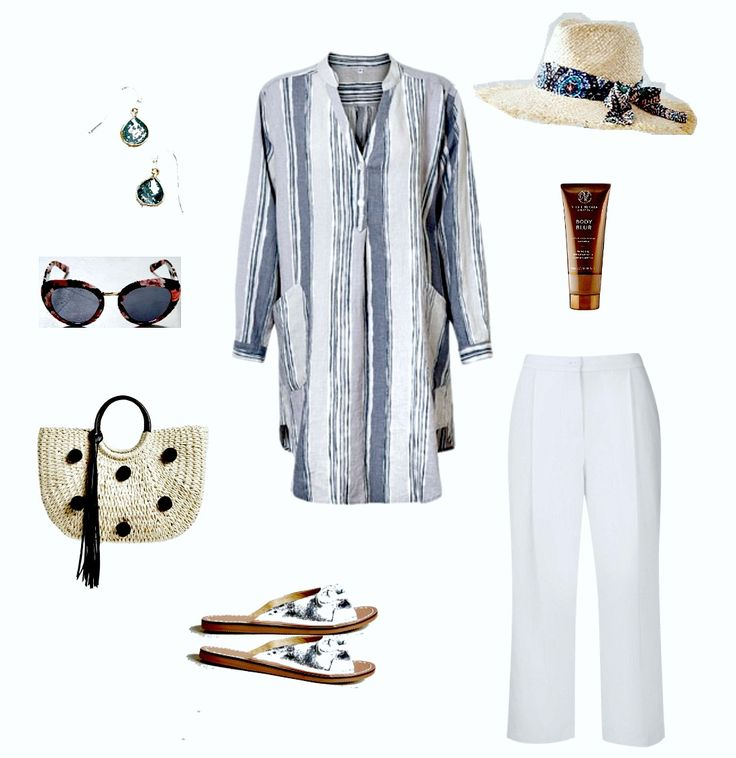 Long sleeve summer tunics. capsule summer wardrobe.