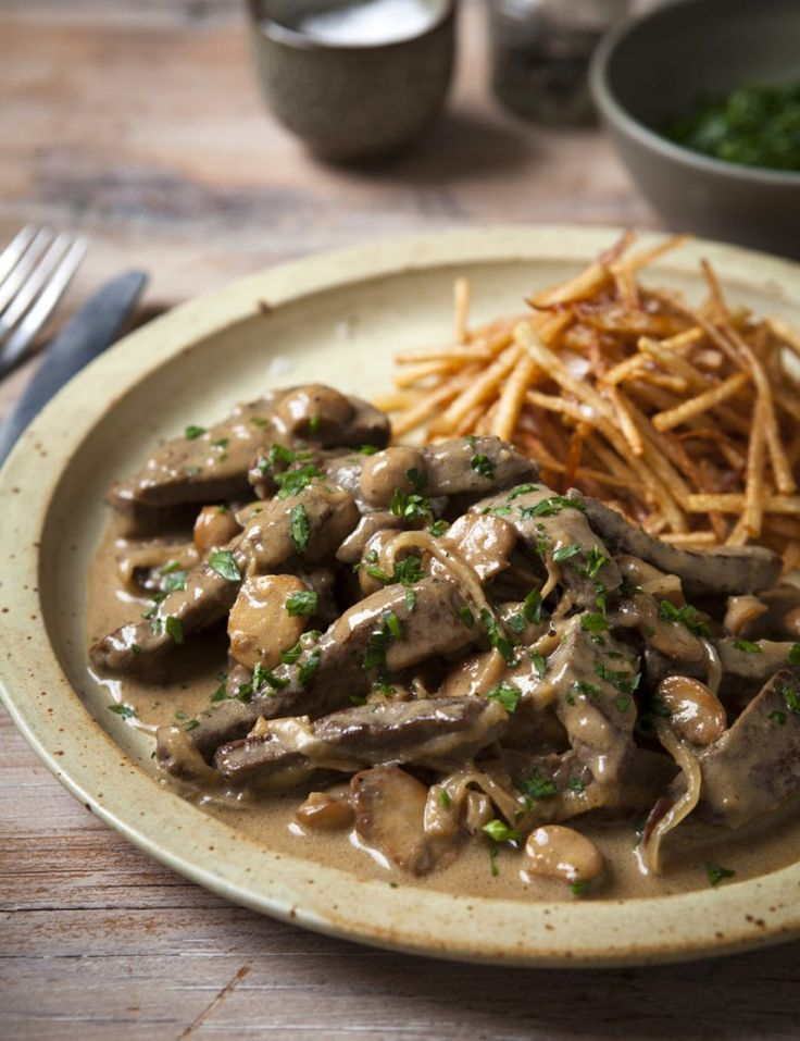 Beef stroganoff... You may need to cook this in batches up to step 4, then mix everything together in a large pot before transferring to ovenproof dishes. Read more at http://www.hairybikers.com/recipes/view/beef-stroganoff