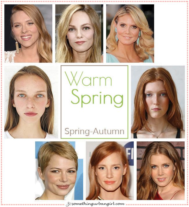 Warm Spring, Spring-Autumn seasonal color celebrities by 30somethingurbangirl.com